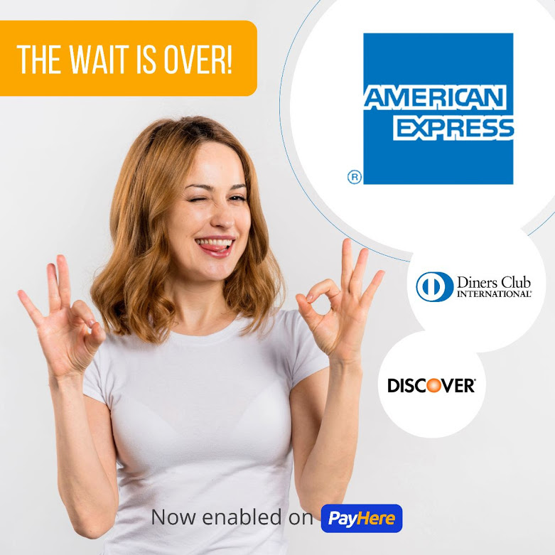 PayHere Amex Discover Diners Club